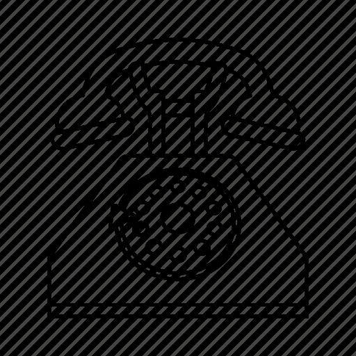 contact, phone, retro telephone, telephone icon icon