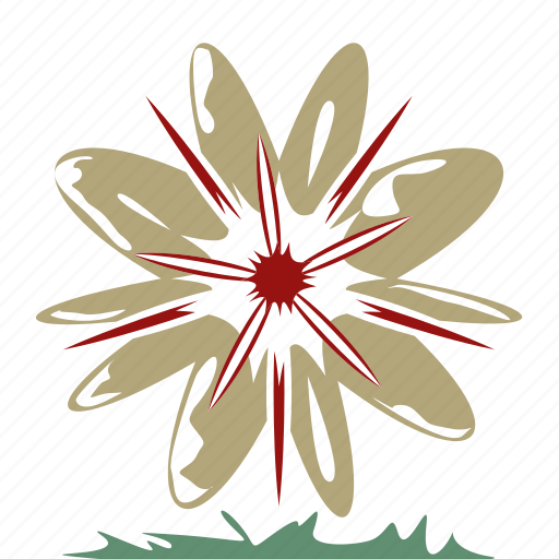 bookmark, favorites, flower, like, nature, retro, romantic icon