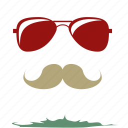 cool character, man wearing glasses, moustache, retro, spectacles, suave man, vintage icon