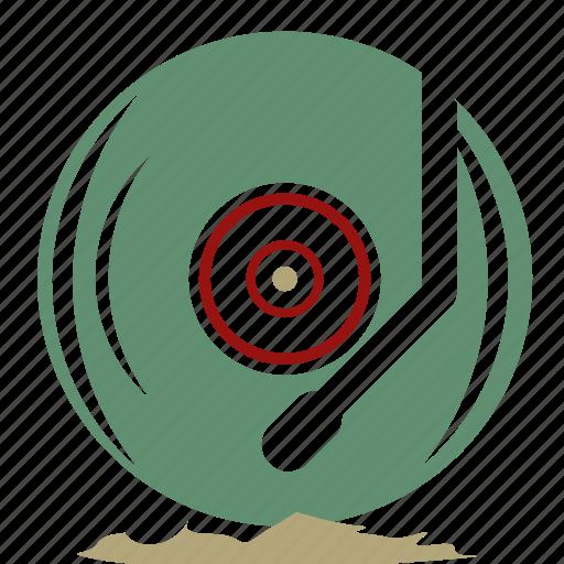 disc, lp, multi media, music, record, retro, turn table icon