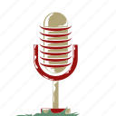 announcement, broadcast, communication, live, microphone, radio, retro icon