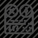media, music, recorder, retro, voice record icon