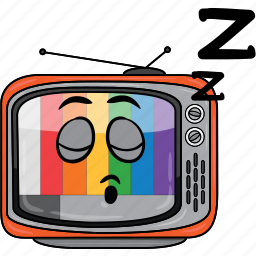 cartoon, emoji, retro, smiley, television, tv icon