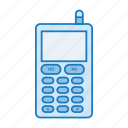 mobile, phone, retro, tech, telephone icon