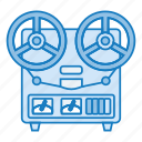 audio, audio recorder, recorder, retro, sound icon icon