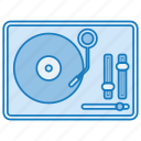 music, retro, sound, tune, turntable icon icon