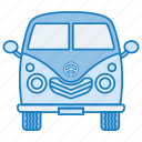 car, retro, travel, trip, van icon