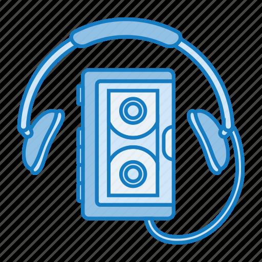 audio, music, retro, sony, tech, walkman icon