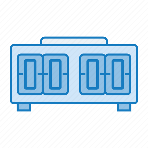 clock, flip, retro, tech, time icon icon