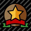 reward, military, army, star, badge
