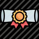 diploma, degree, certificate, prize, winner, award, reward