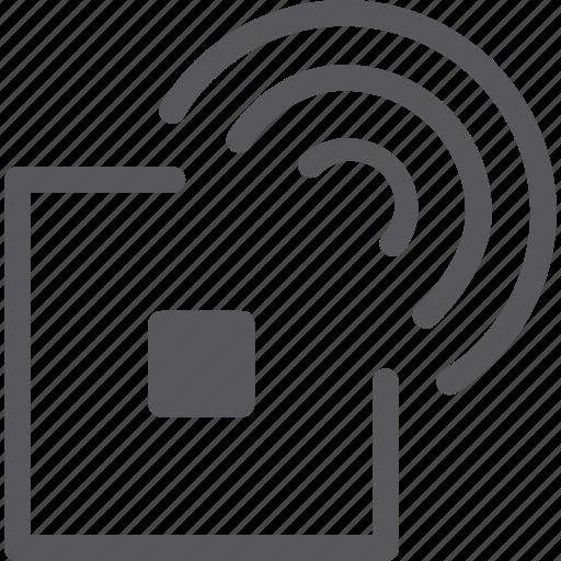 chip, radio, rfid, tag, wire, wireless icon