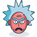 angry, bad, emoji, rick, rick and morty icon