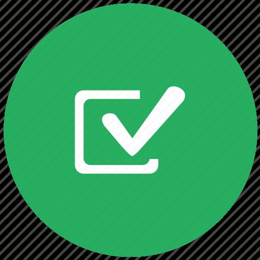 accept, agree, check, checkbox, green icon