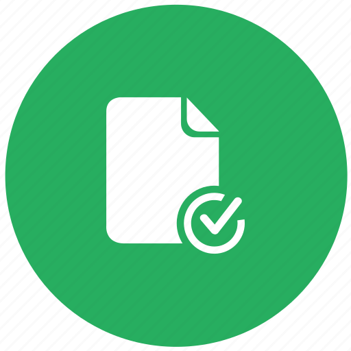 accept, check, confirm, doc, document, green icon
