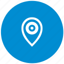 aim, geo, location, point, pointer, round icon