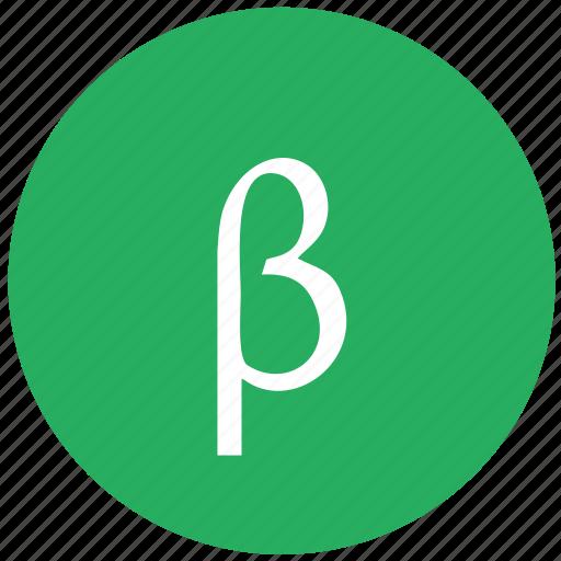 alphabet, beta, greek, letter icon