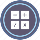 calc, calculator, instrument, math, round icon