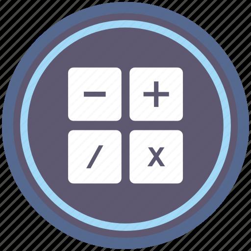 calc, calculator, instrument, math, round icon