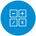 calc, calculator, count, instrument, math icon