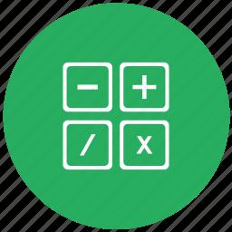 calc, calculator, count, green, instrument, math icon
