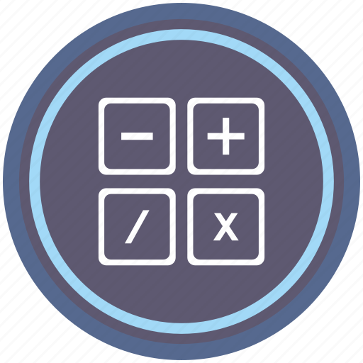 calc, calculator, count, instrument, math, round icon