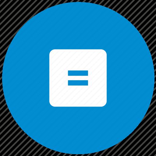 blue, calc, calculator, equally, math, operation, round icon