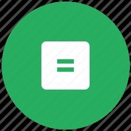 calc, calculator, equally, green, math, operation icon