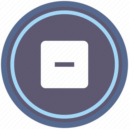 calculator, math, minus, operation, round icon