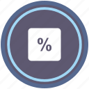 calc, calculator, math, operation, percent, round icon