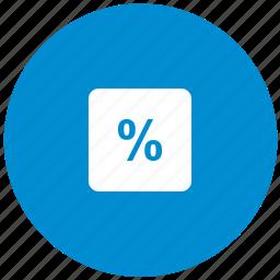calc, calculator, math, operation, percent icon