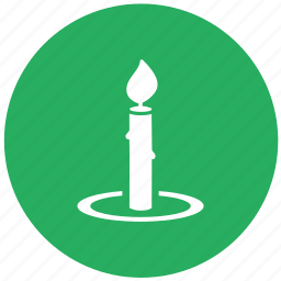candle, candlestick, chamberstick, green, round icon