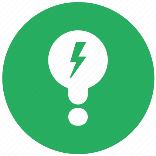 bulb, electric, green, lamp, light, lighting, round icon