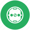 socket, green, electric, standart, type, round, euro