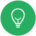 bulb, green, lamp, light, lighting, round icon