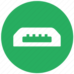 cable, charge, data, green, mini, round, usb icon