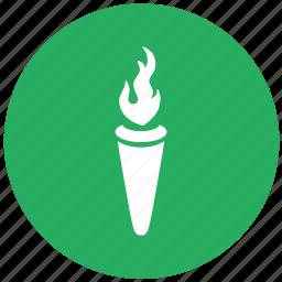 fire, green, light, lighting, olympic, round, startfire icon