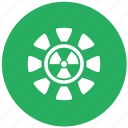 green, radiation, round icon