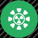 green, radiation, round