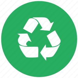 eco, garbage, green, item, recycle, round icon