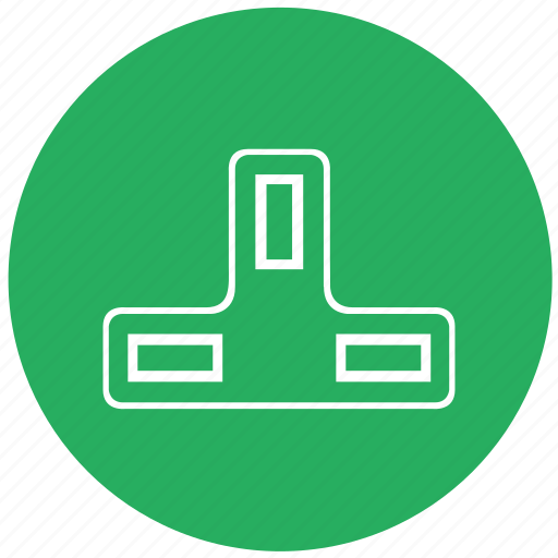 charge, charging, electric, green, round, socket, type icon