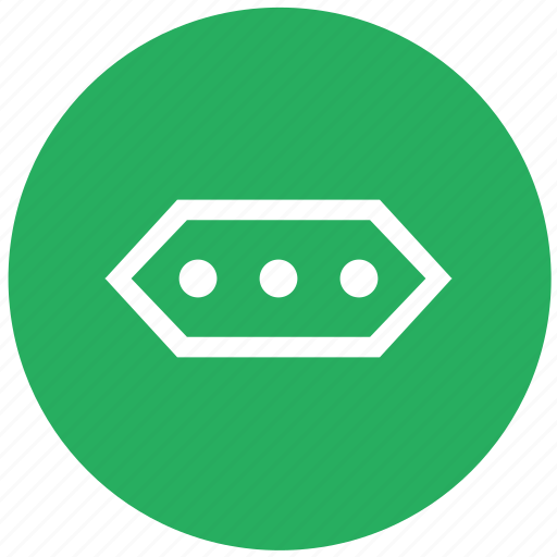 charge, electric, electricity, green, round, socket, type icon