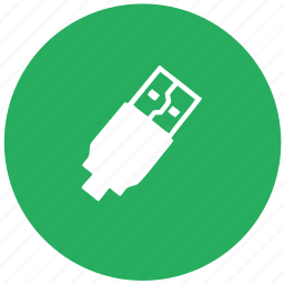 cable, charging, green, round, usb icon