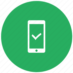 accept, confirm, green, mobile, ok, phone icon