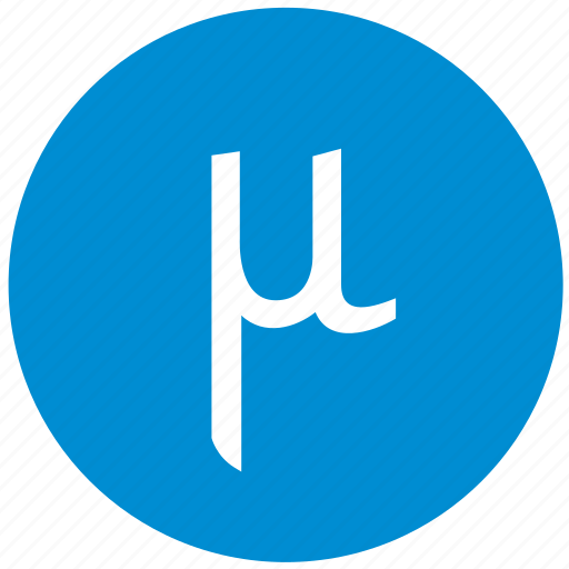 alphabet, greek, letter, mu icon