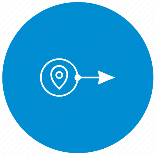 location, place, round, transport, way icon