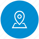 location, map, place, point, round icon
