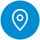 geo, location, point, pointer, round icon