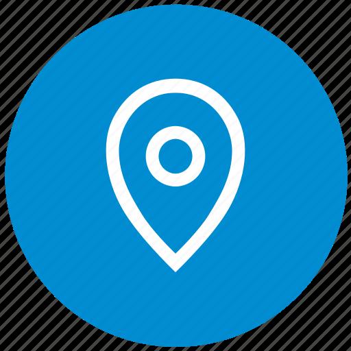 geo, location, point, pointer, round icon