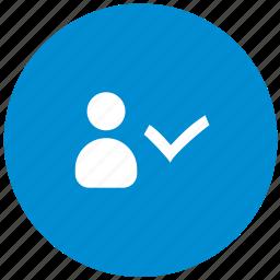 accept, comfirm, id, login, person, user icon